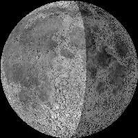 Moon age: 18 days,13 hours,39 minutes,85%  Vy av månen från set från jorden just nu  http://www.fourmilab.ch/
