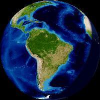 América Latina visto desde el espacio
