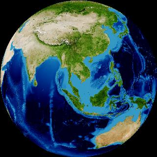 South-East Asia View From Space