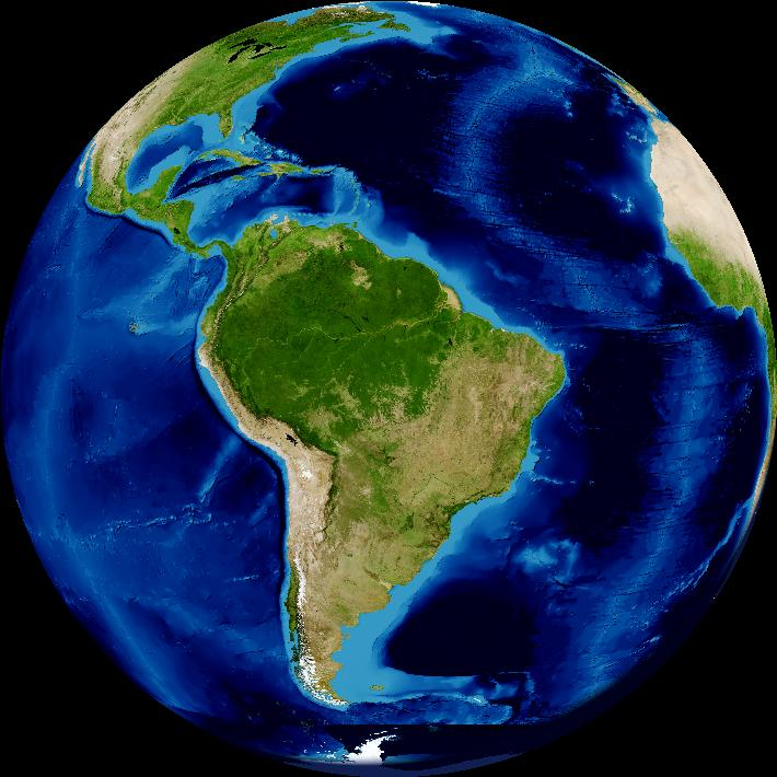 América Latina vista desde el espacio