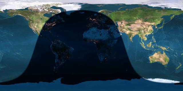 Earth light map