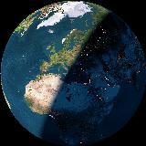 Η χώρα μας στον πλανήτη μας, όπως φαίνεται από το διάστημα