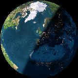 Nuestro hogar en nuestro planeta visto desde el espacio