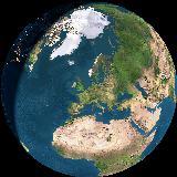 Unser Zuhause auf unserem Planeten aus dem Weltraum gesehen
