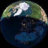 De aarde gezien vanuit de ruimte