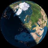 Ons thuis gezien vanuit de ruimte