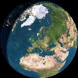Vores hjem på vores planet set fra rummet