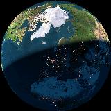 Vores hjem på vores planet, set fra rummet