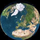 Vårt hjem på planeten vår sett fra rommet