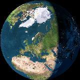 Notre maison sur notre planète vue de l'espace