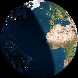 Imagen actual de la Tierra