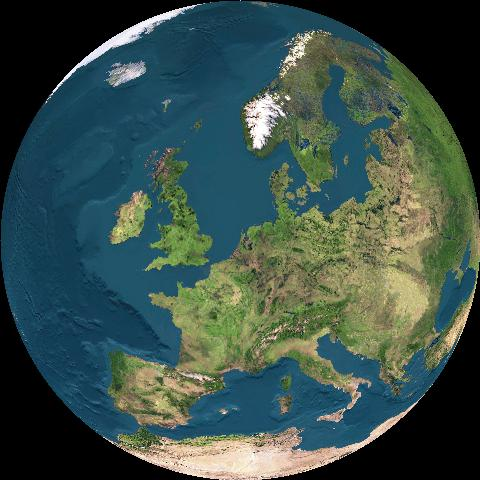 Het verloop van dag en nacht op aarde.