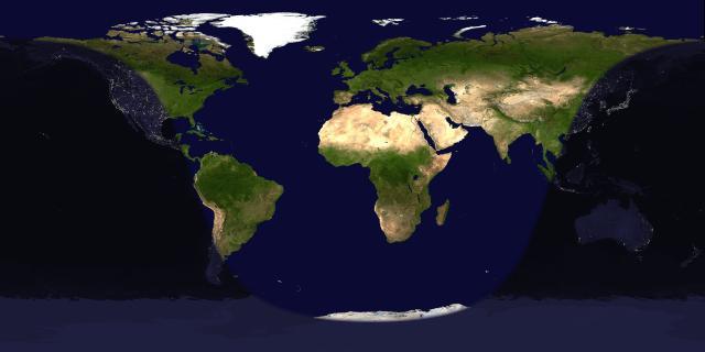 Jour-Nuit sur le monde