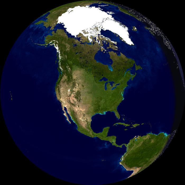US Day-Night Globe