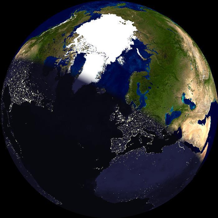 Europa dag/nat klode