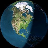Sunlit Earth