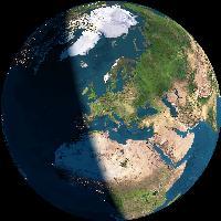 La Terra vista dalla Luna centrata su Arsié