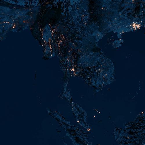 Взгляд на Бангкок из стратосферы