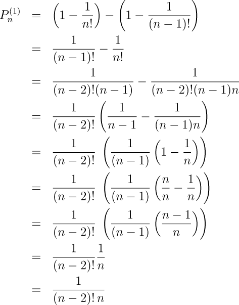 sum of probabilities equal one