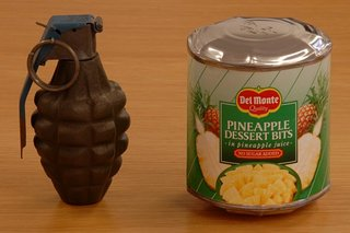 Two pineapple grenades