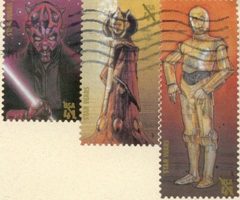 U.S. Star Wars Stamps