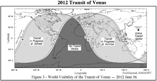Transit of Venus 2012-06-06 visibility map