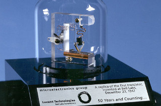 Replica of the first transistor from 1947