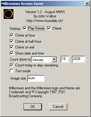 Millennium Screen Saver for Windows