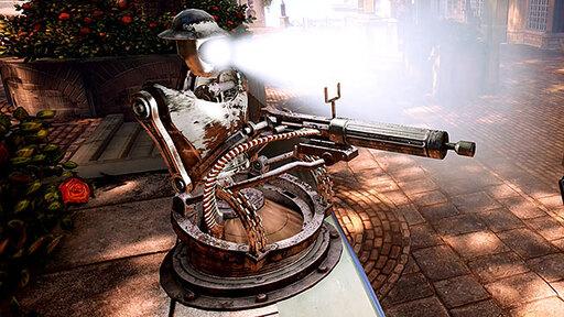 Bioshock Infinite automated gun turret