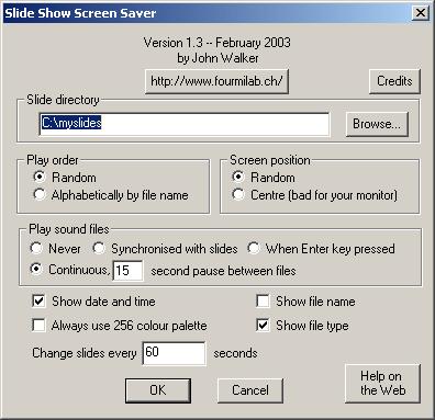 Slide Show Screen Saver for Windows