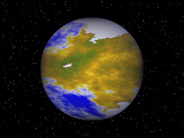 Новая планета, пригодная к колонизации.